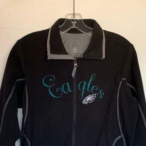 Philadelphia Eagles Jacket Sweater Zip Black NFL